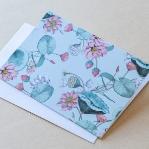 Greeting Card – Lillies Green 04