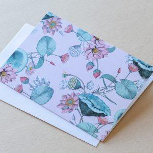 Greeting Card – Lillies Pink 02