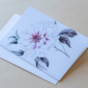 Greeting Card – Peony Pale