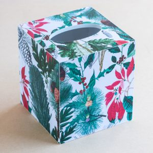 Tissue Box Cover Christmas Foliage