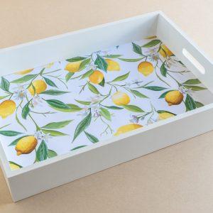 Tray Lemons White