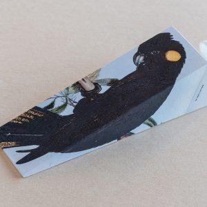 Doorstop Black Parrot