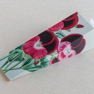 doorstop – pansies – red
