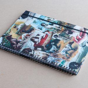 A4 notebook- dogs-bomo