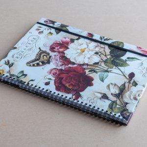 A4 notebook – roses – bomo