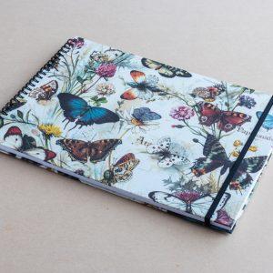 A4 sketchbook-butterflies-bomo