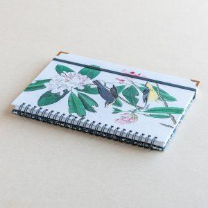 A5 notebook – yellow birds