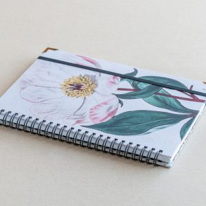 A5 lined notebook – pink poppy