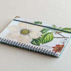 A5 notebook – white flower