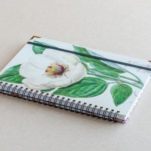 A5 notebook – white poppy