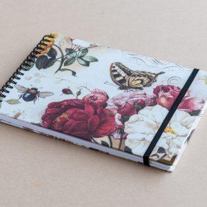 A5 sketchbook – roses – bomo