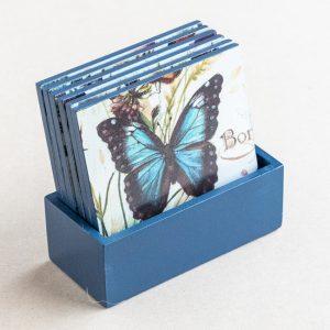 coaster set – butterflies – bomo