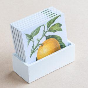 coaster set – citrus