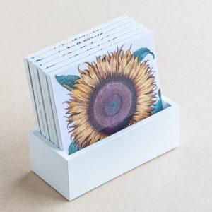 coaster set – sunflower