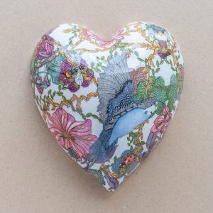 large heart – blue bird – oriental