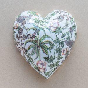 large heart – birds – palm -ivy