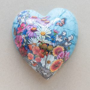 large heart – daisies – poppies – mixed