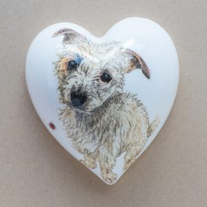 large heart – brown dog