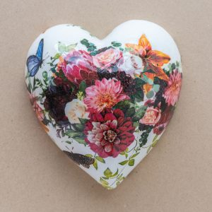 large heart – mixed red floral