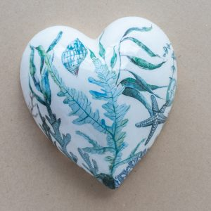 large heart – blue seaweed