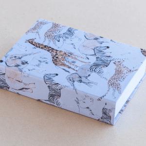 jotter pad  – animals – white