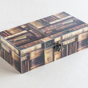 trinket – stationery box – books – bomo