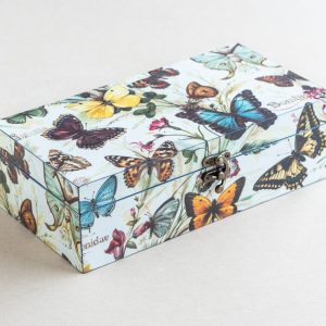 trinket – stationery box – butterflies – bomo