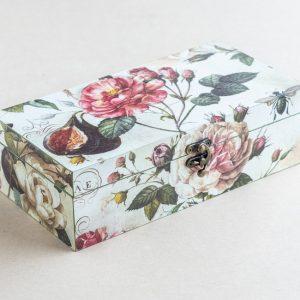 trinket – stationery box – roses – bomo