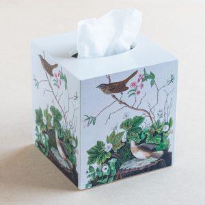 tissue box cover – birds – log