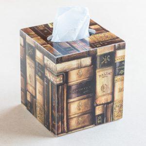 tissue box cover – books – bomo