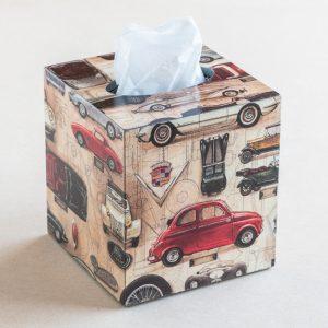tissue box cover – cars – bomo