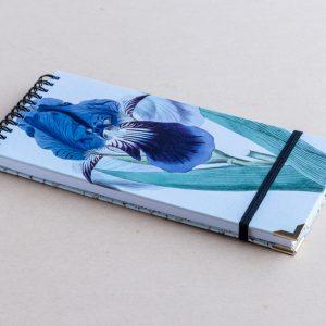 Slim notebook – blue iris