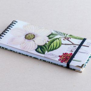 Slim notebook – white flower