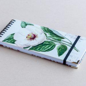 slim notebook – white poppy