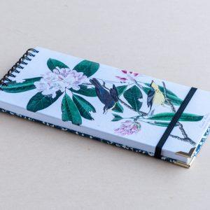 Slim notebook – yellow birds