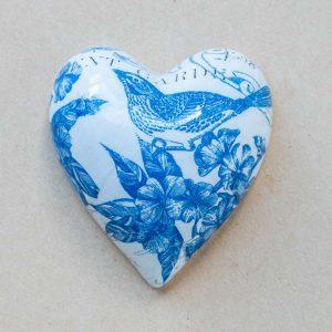 small heart – birds – blue toile – 02