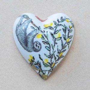 small heart – animals -contemporary – sloth