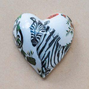 small heart – animals – contemporary – zebra