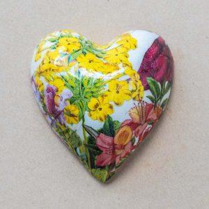 small heart – botanical – yellow