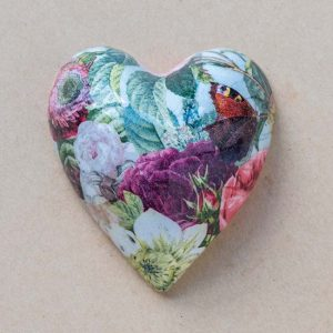small heart – vintage pink rose – 01