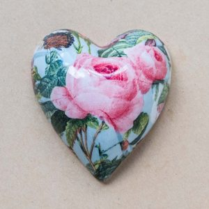 small heart – vintage pink rose – 02