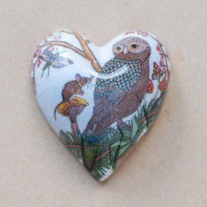 small heart –  woodland owl