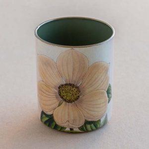 desk pot – white flower